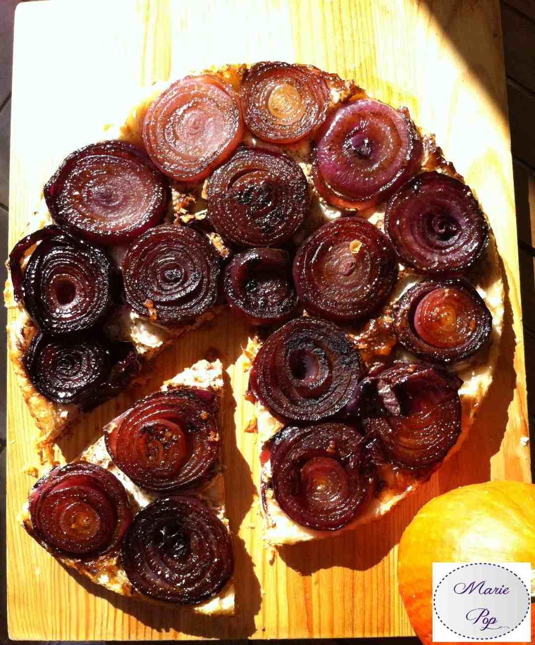 Tarte tatin d'oignons rouges - la recette
