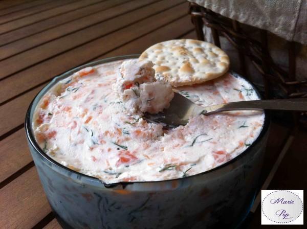 rillettes de saumon fumé - recette