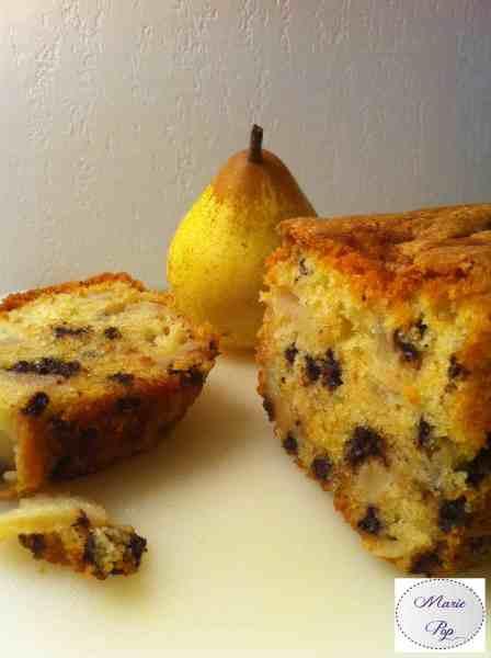 Cake de la belle Hélène - Poires Chocolat - la recette