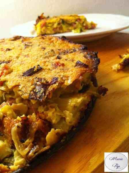 Clafoutis poireaux lardons - la recette légère et savoureuse