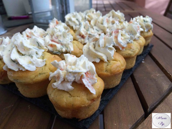 Mini Cupcakes au Saumon… L'apéro prend des airs de tea time !