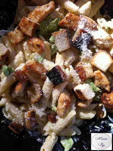 Salade de pâtes façon caesar - la recette