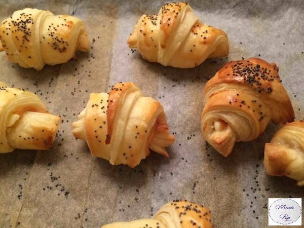 Mini croissant Saumon fumé et fromage frais. Alors ça c'est bon !