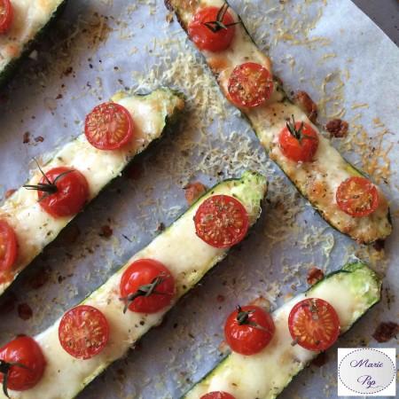 Courgettes façon pizza - la recette toute légère