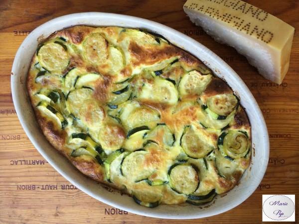 Gratin de Courgettes au Parmesan… Ce sont vos grillades qui vont être contentes !