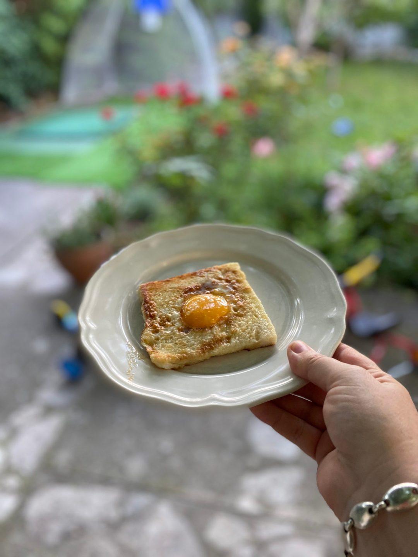 Egg in a hole la recette