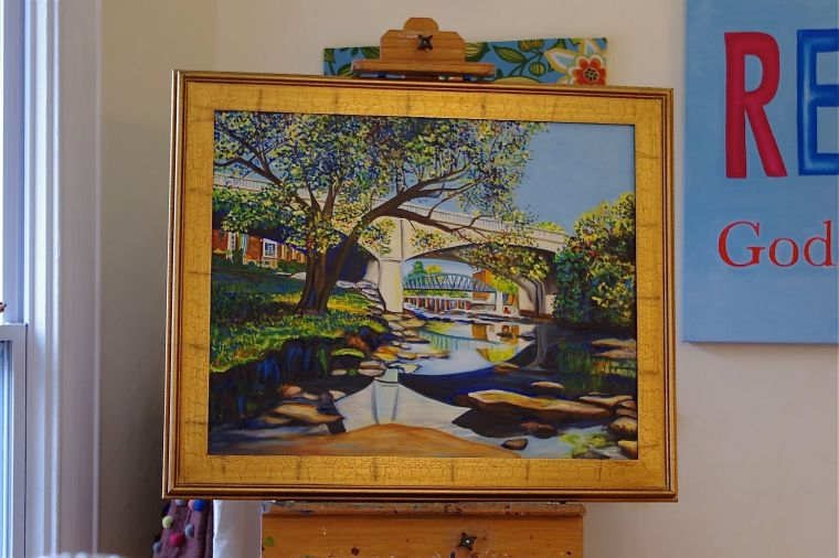 Main St. Bridgeoil painting