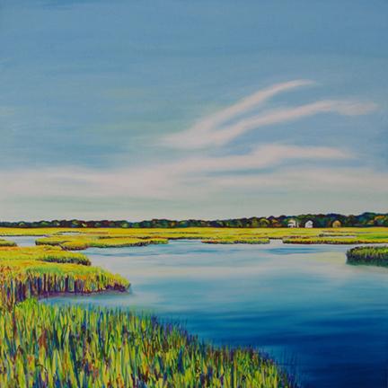 BREATHE IN • ©2015 Marie Scott Studios • 36 inch x 36 inch original oil painting