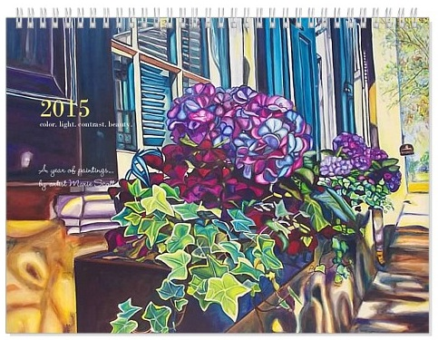 2015 Calendar. A year of paintings by artist Marie Scott.