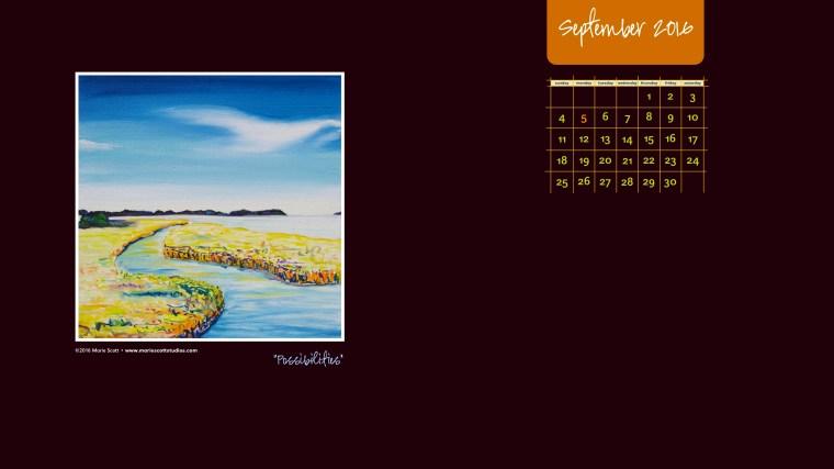 SEPTEMBER 2016 Desktop Calendar