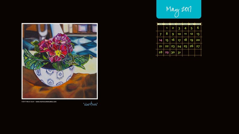 MAY 2017 Desktop Calendar