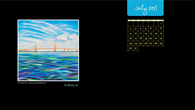 JULY 2017 Desktop Calendar SMALL
