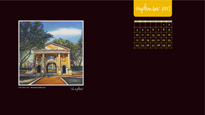 SEPTEMBER 2017 Desktop Calendar 300px