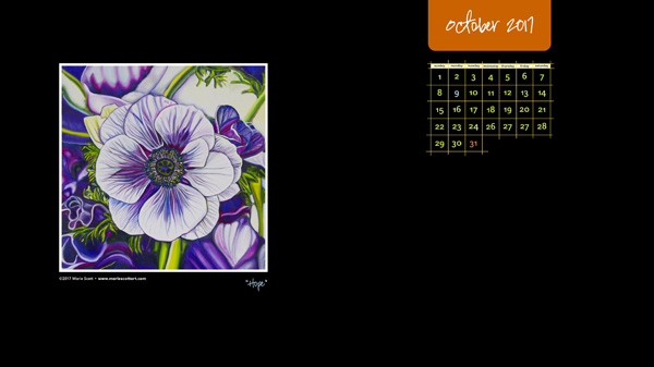 OCTOBER 2017 Desktop Calendar600px