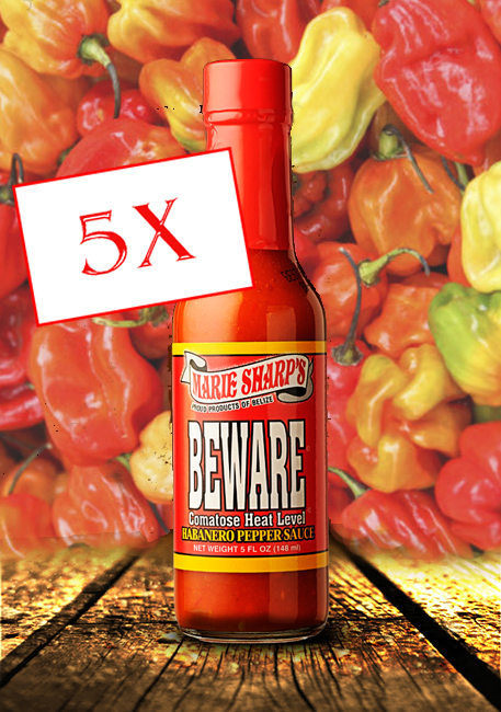 Marie Sharp's Beware hot sauce