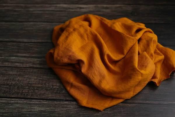 Leinen gewaschen Curcuma