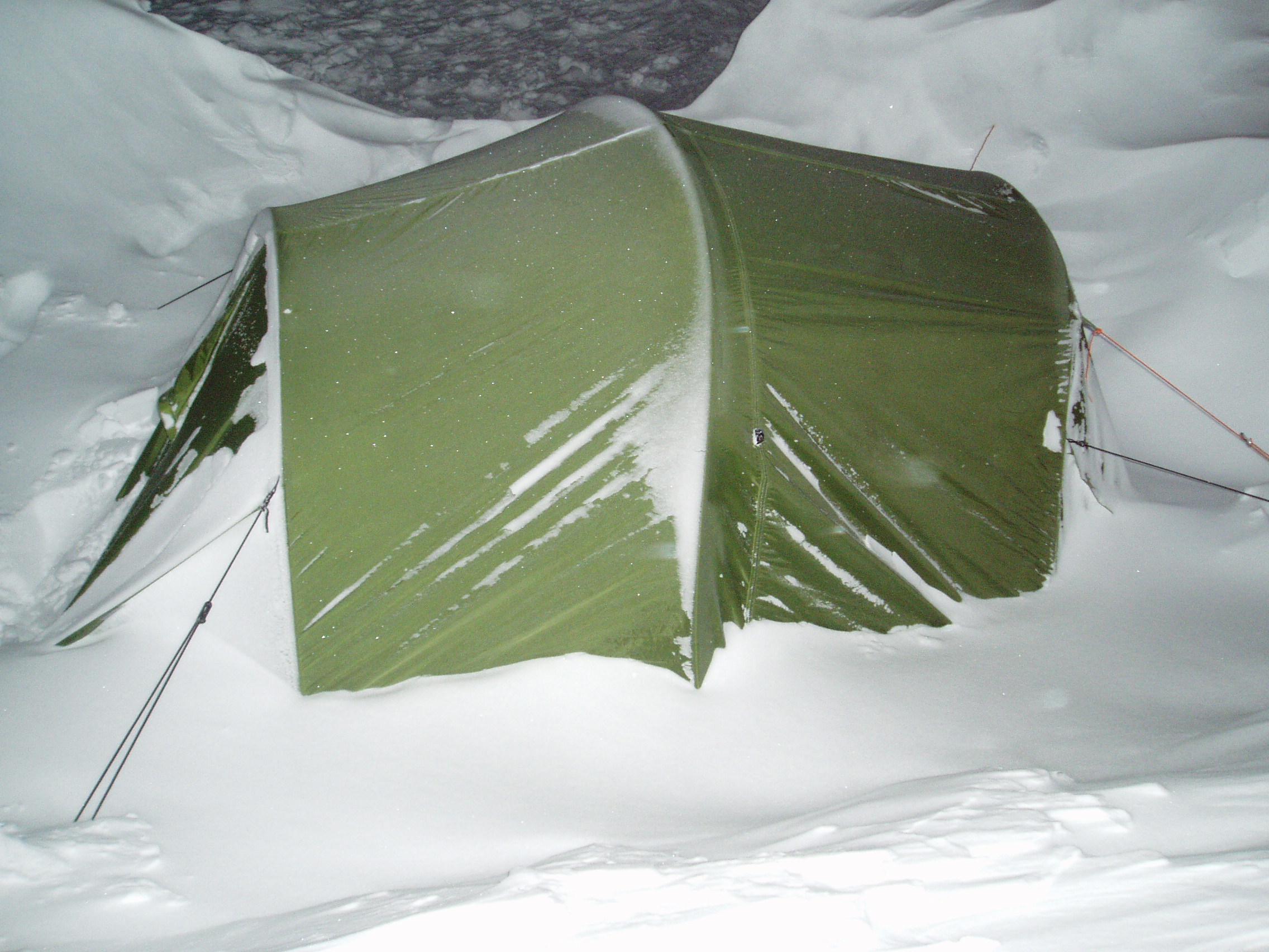 Nedsnødd telt...