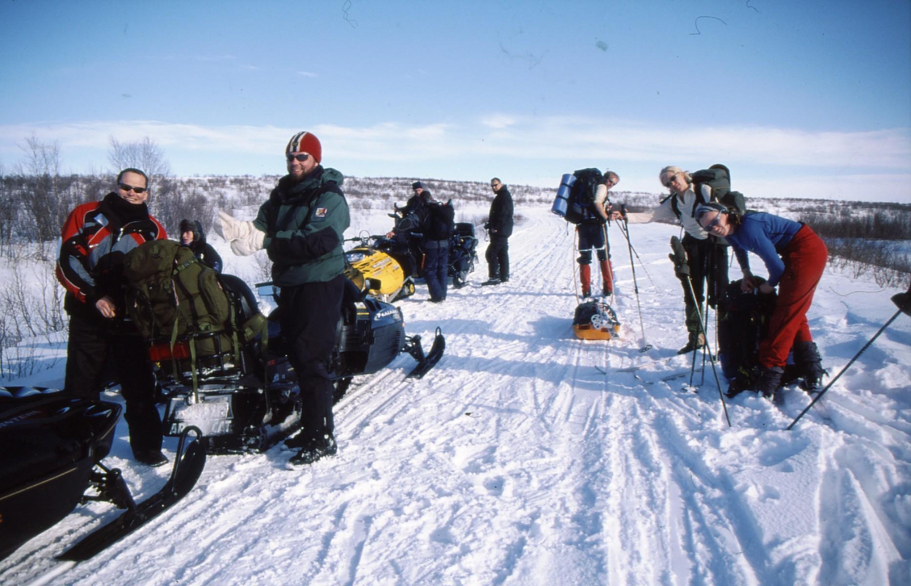Sverre fikk haik med en scooter de siste par milene til Kautokeino