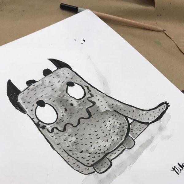 A cute monster illustration