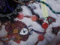 Crystal, Coral, Silver and Stone Handmade Jewelry Items