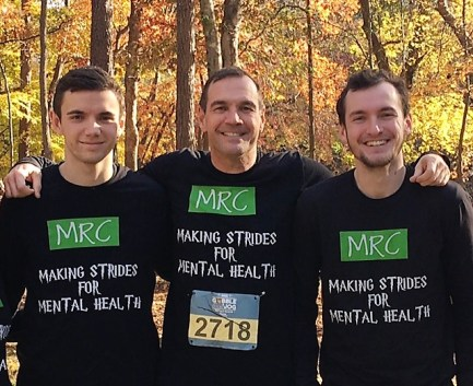 Scott Pennington and Family at the Must Ministries Gooble Jog promoting Mental Health and Marietta Roswell Counseling
