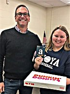 Scott and Ansley with donuts