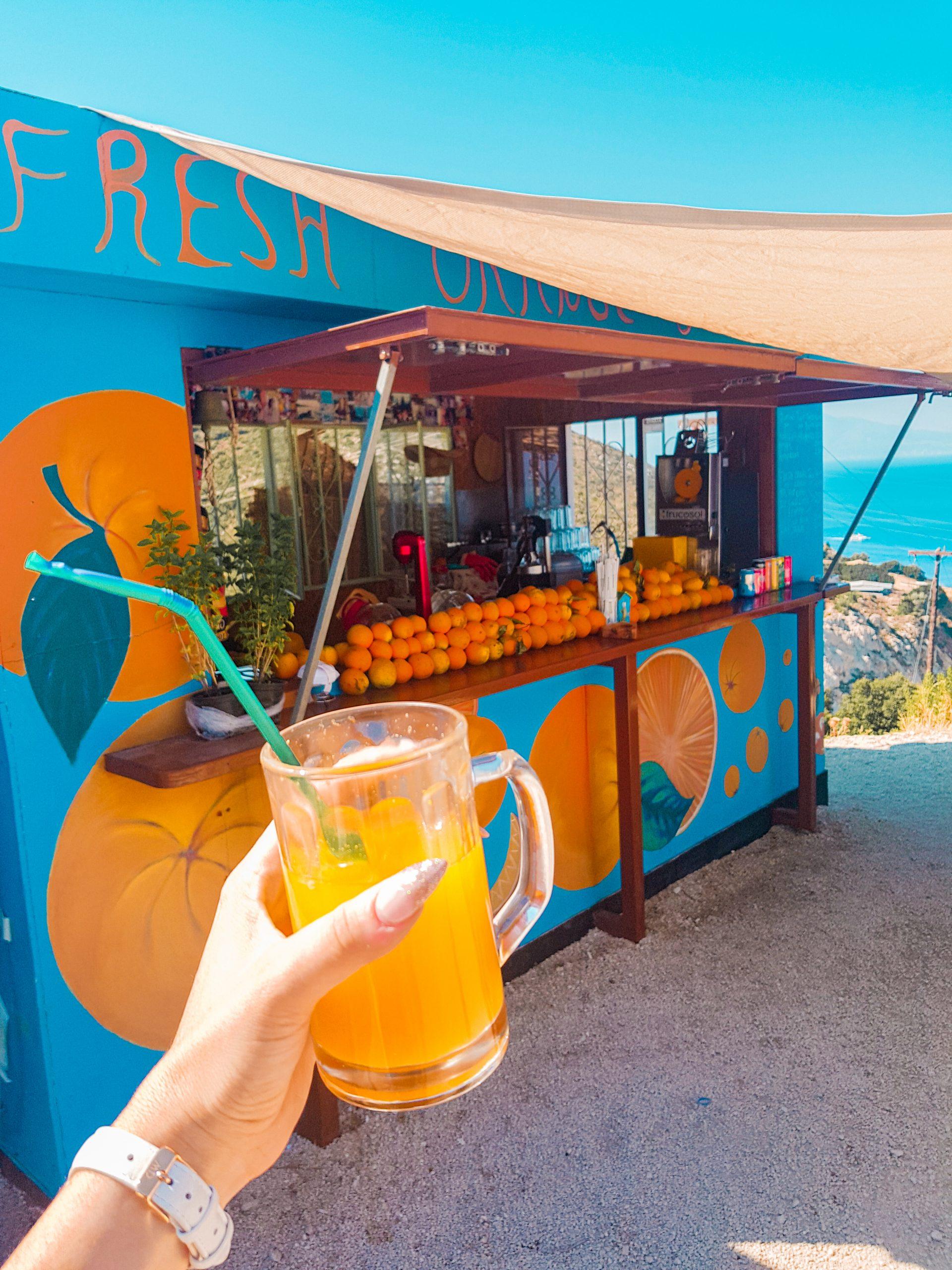 Fresh Orange Juice Bar in Zakynthos