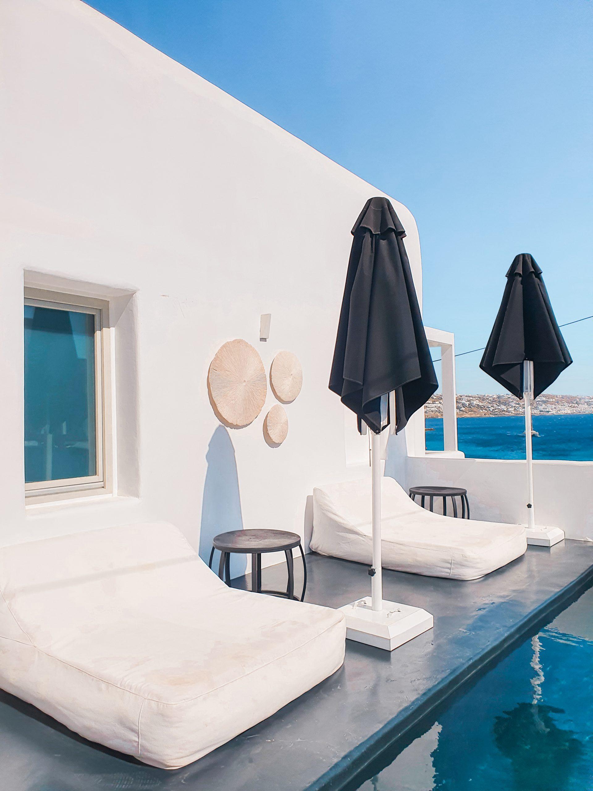 Pool design at Nimbus Mykonos