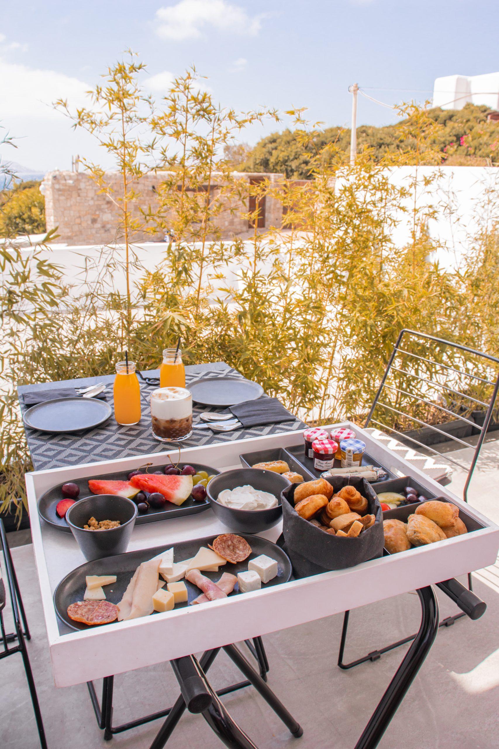 Breakfast at Nimbus Mykonos