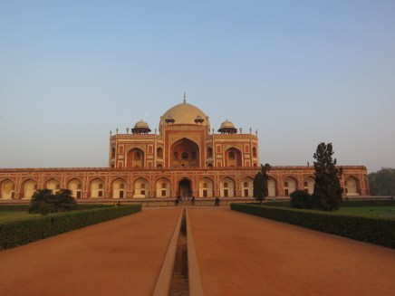 In the afternoon and evening our new driver (who is also a fantastic guy) took us to a few sights around Delhi. This is Humayun's tomb.