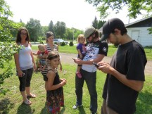 We often paired up our Pokeman hunting with Geo caching! We were able to find a few in Steinbach!