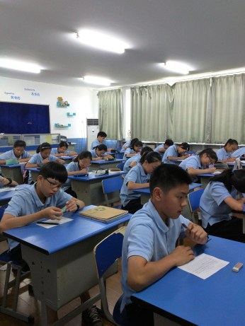 One of my new Grade 7 writing classes