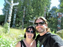 Dave and I checking out the Totems