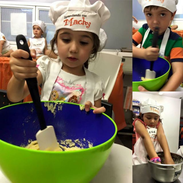 // My daughter Stella learning how to make cookies at Pudines Machy \\