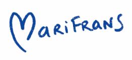 Firma con corazón Marifrans Pueyo en www.marifranstarot.com