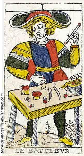 Carta de Tarot de Marsella I El Mago en marifranstarot.com