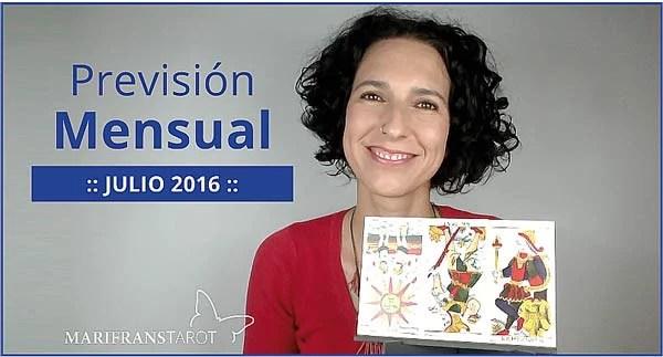 Previsión mensual con el Tarot Julio 2016 en marifranstarot.com