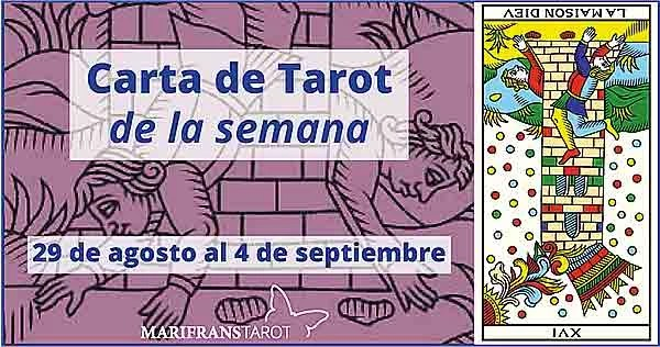 29 de agosto al 4 de septiembre 2016 Carta de Tarot semanal en marifranstarot.com