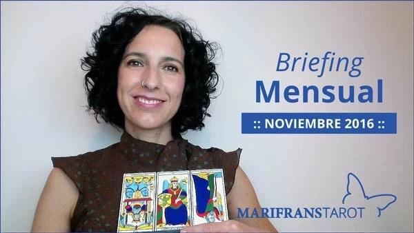 Briefing mensual con el Tarot Noviembre 2016 en marifranstarot.com