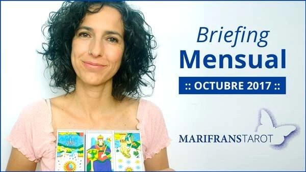 Briefing mensual con el Tarot Octubre 2017 en marifranstarot.com