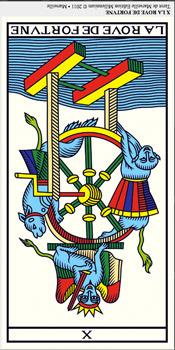 ©Wilfried Houdouin tarot-de-marseille-millennium.com X La Rueda de la Fortuna. Tarot evolutivo Tarot terapéutico
