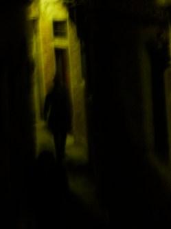 Lone figure walking, Venice