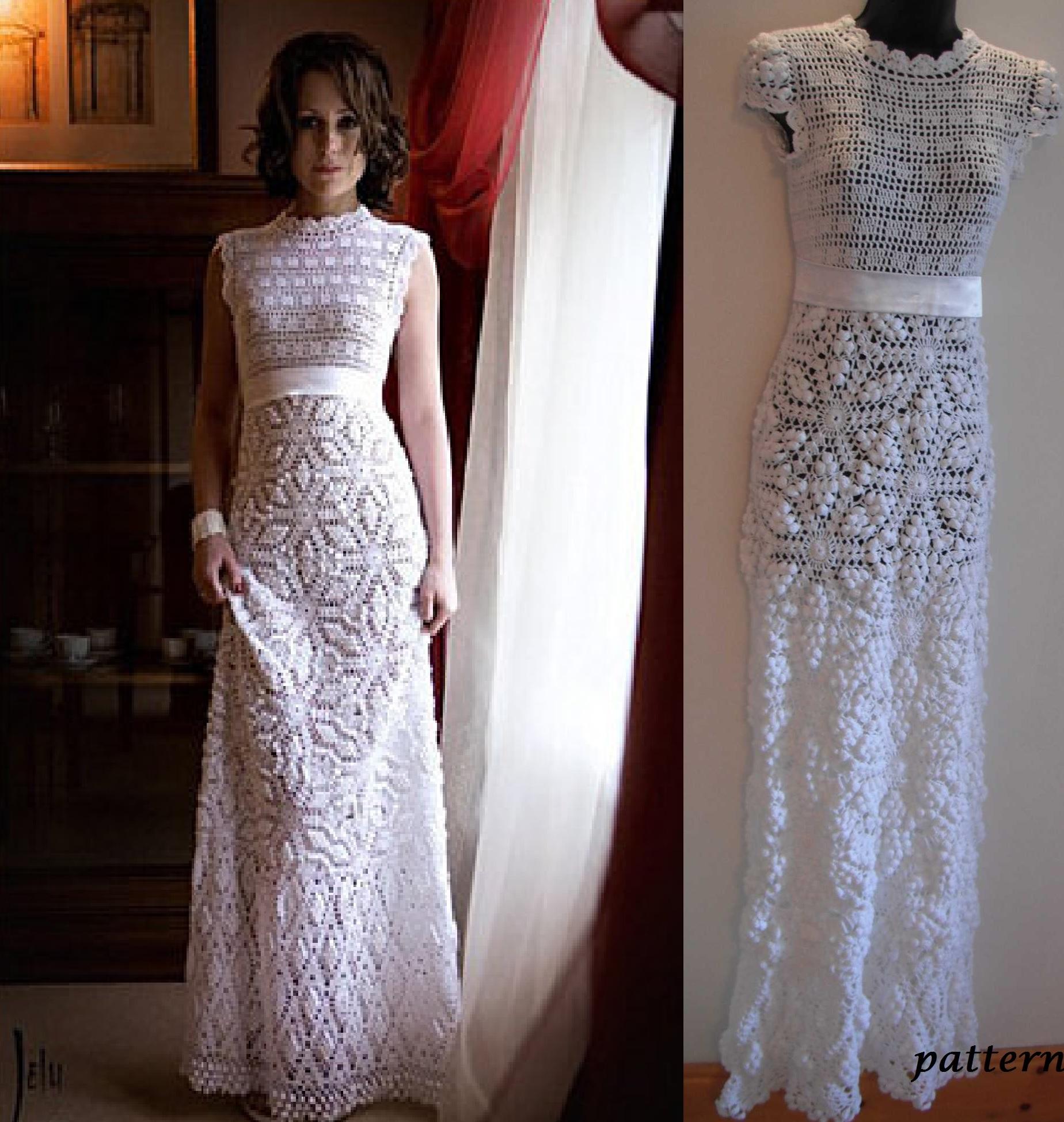 Crochet Wedding Dress.Crochet Wedding Dress Pattern Pdf By Marifu6a