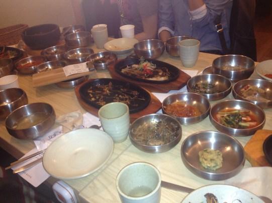 Unser Tisch nach dem Festmahl