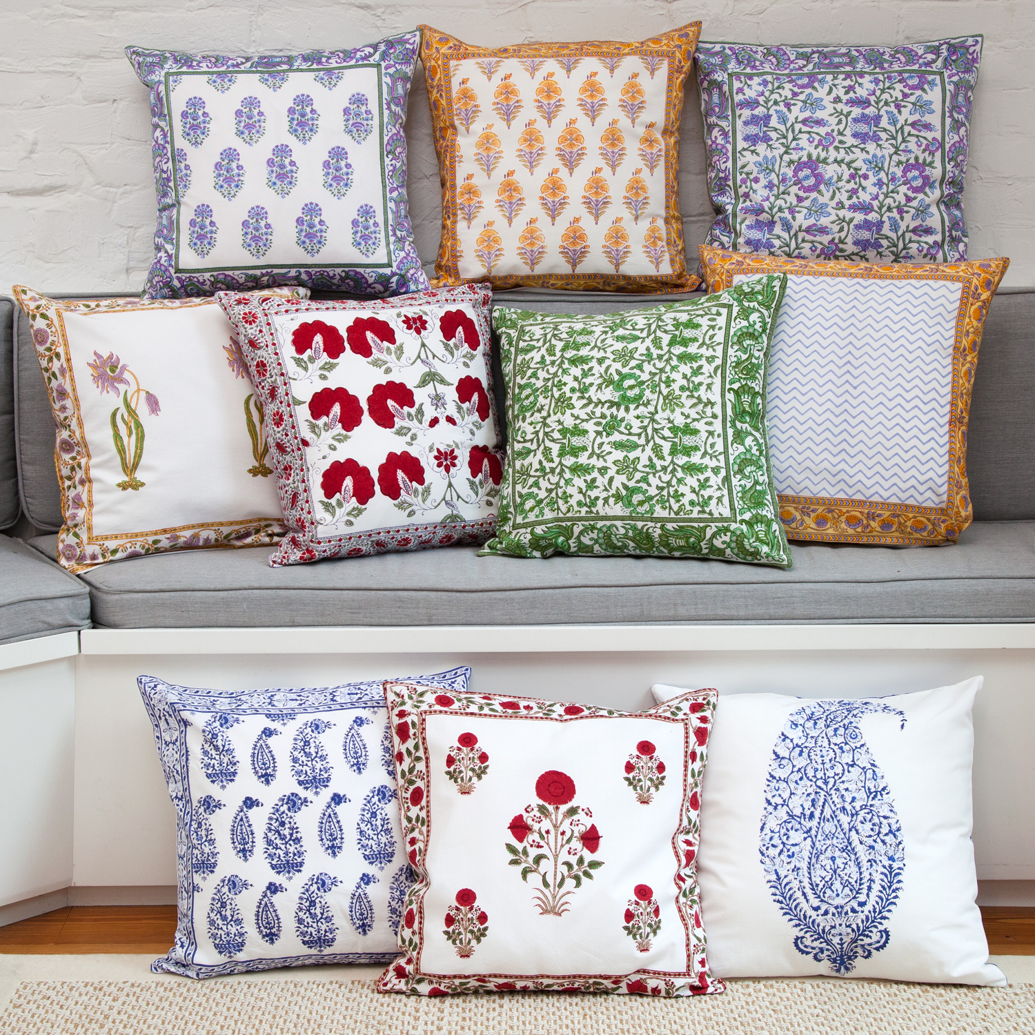 pillow covers for living room modern decor ideas 2017 handmade indian new york marigold view all block printed