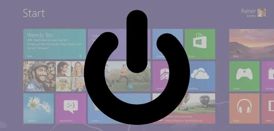 Windows 8.1: Herunterfahren vs. Herunterfahren