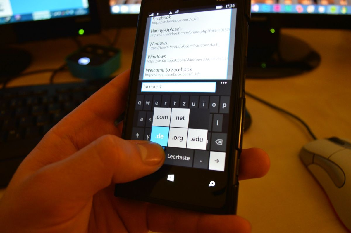 Windows Phone Keyboard TLD