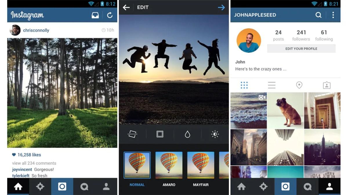 Instagram für Android mit neuem Design