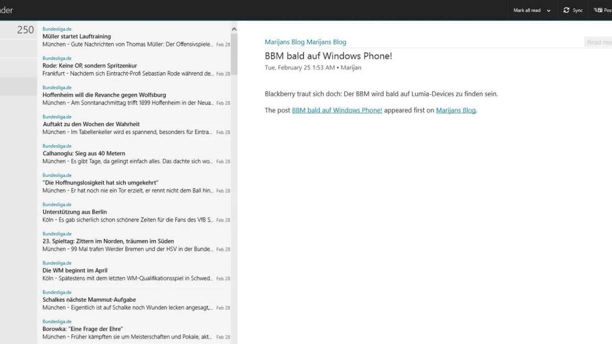 Kostenlos: Nextgen Reader für Windows 8