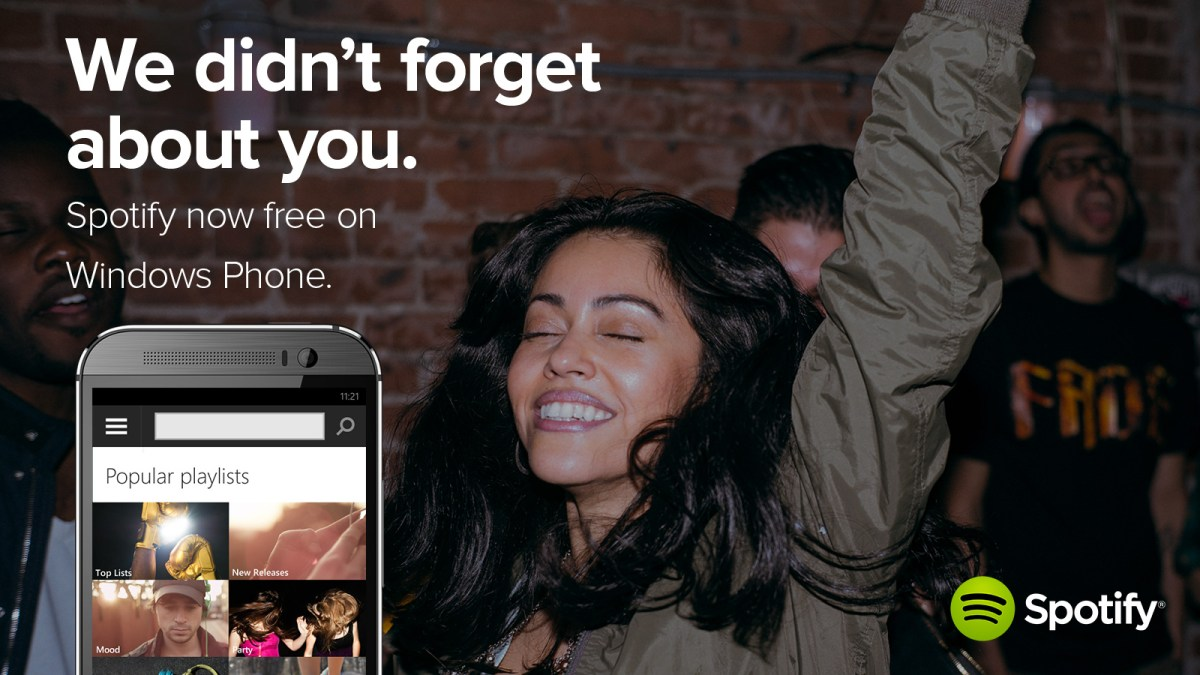 Endlich! Spotify streamt nun kostenlos auch bei Windows Phone